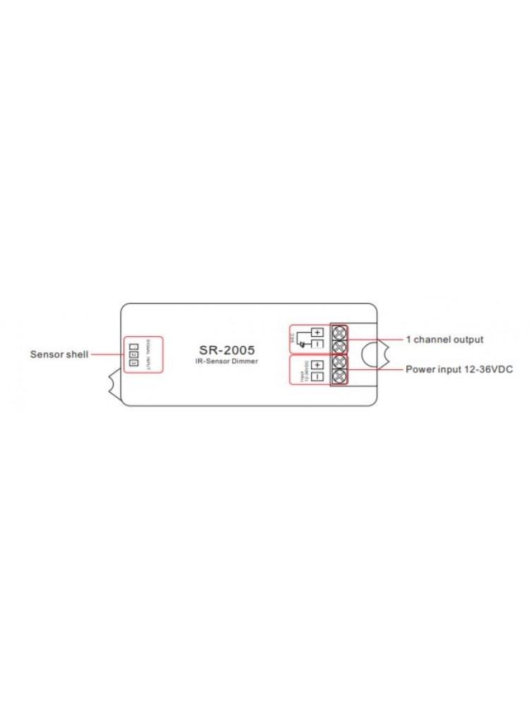 LED juostų sensorinis valdiklis ON-OFF-DIMMER 8A