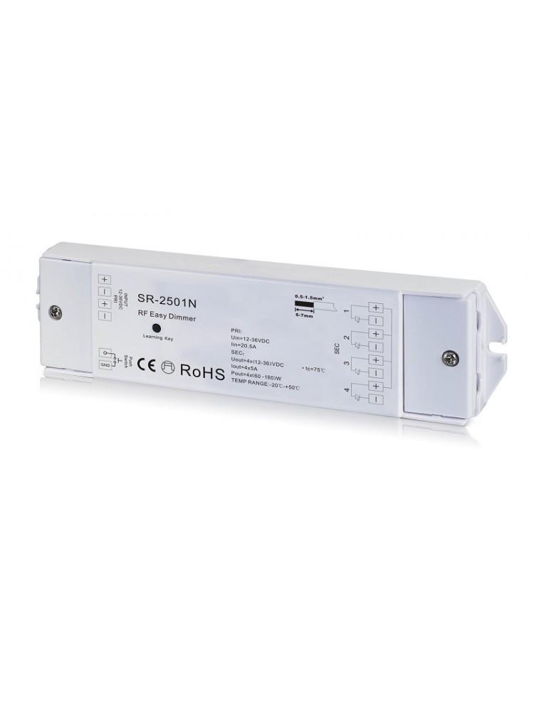 LED juostų valdymo sistemos imtuvas 12-36V 4x5A vienos spalvos, Easy-RF serija, Sunricher