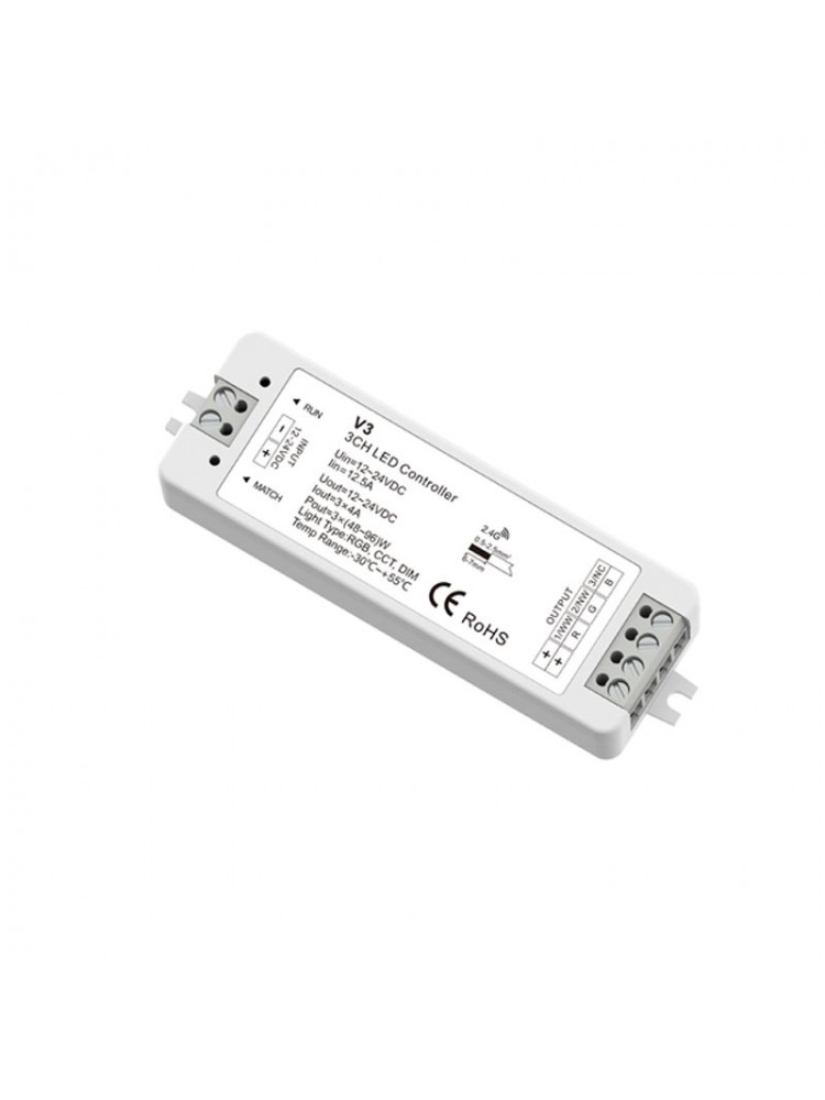 LED RGB juostų valdiklis V3 3x4A