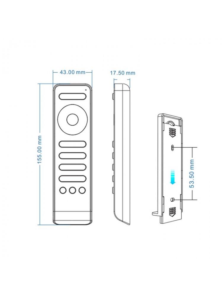 LED vienos spalvos 4 zonų valdymo pultelis RS1