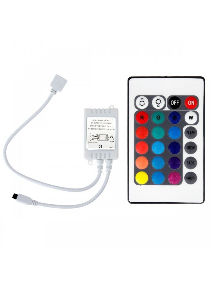 LED juosta RGB  3m BASIC + valdiklis + maitinimo šaltinis