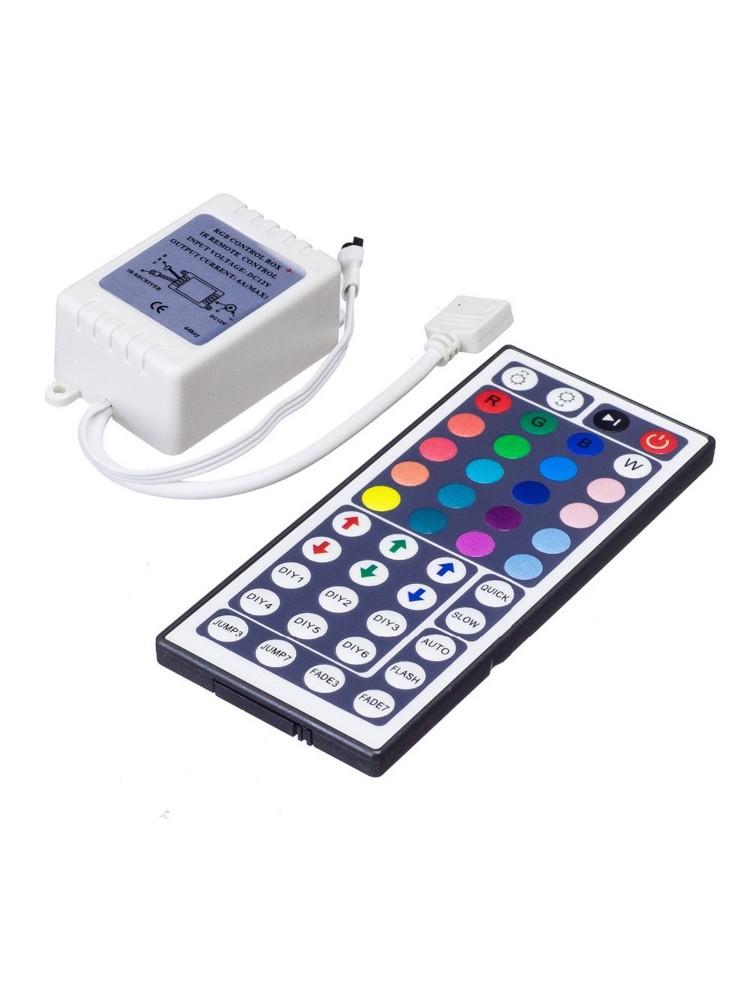 LED juosta RGB  1,5m PLUS + valdiklis+maitinimo šaltinis