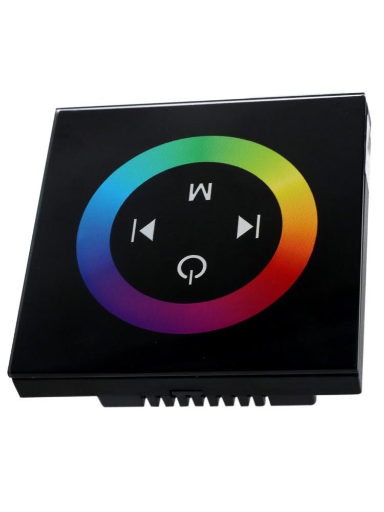 LED sieninis RGB  valdiklis 12A juodas