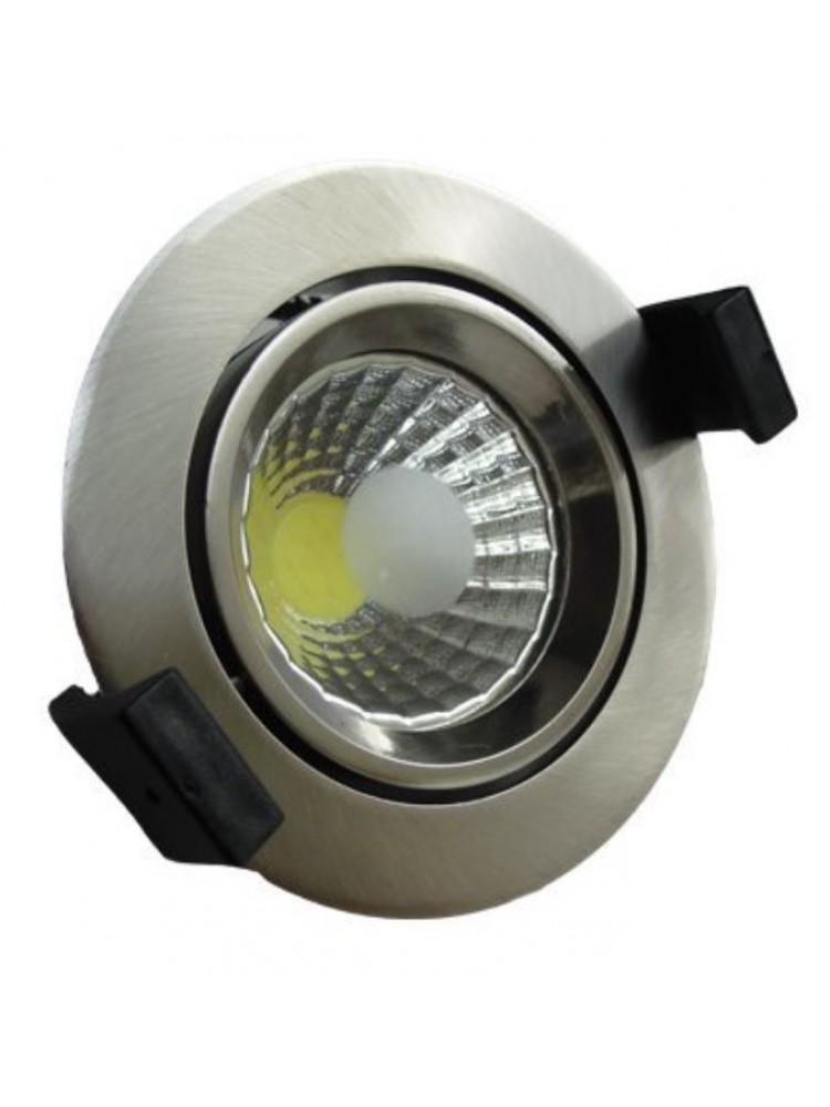 Įleidžiamas paviršinis šviestuvas , apvalus, 8W, nerūdijantis plienas