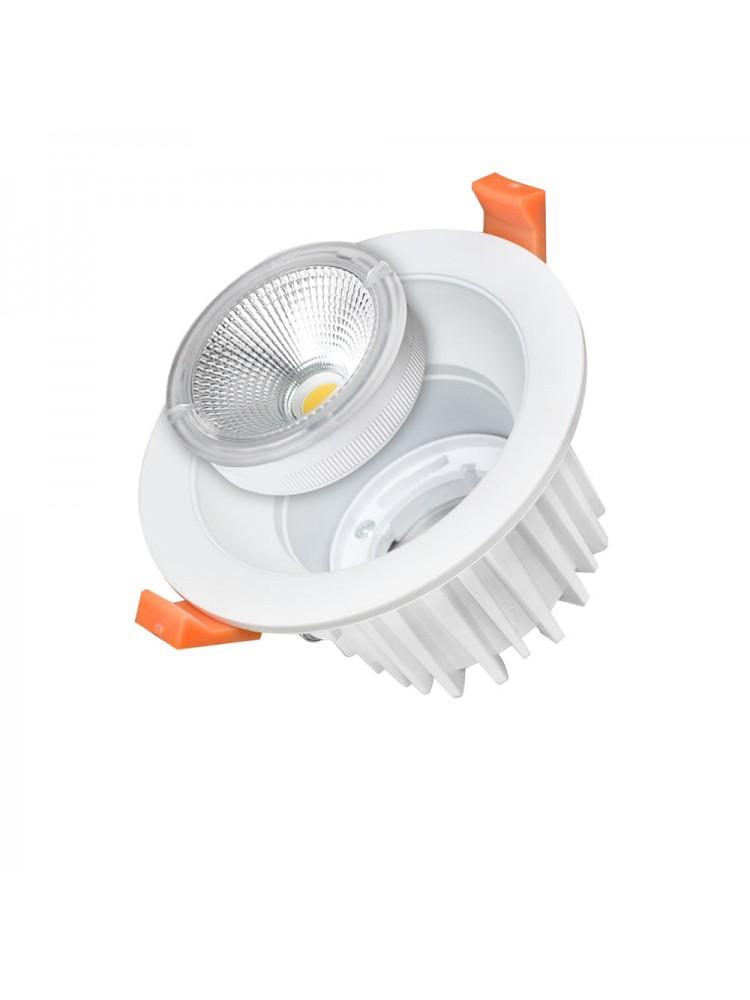 Įleidžiamas paviršinis šviestuvas , apvalus, 25W