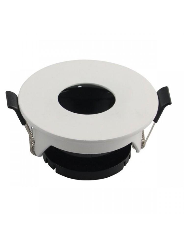 Įleidžiamas paviršinis šviestuvas , apvalus, GU10, baltas 80x42mm