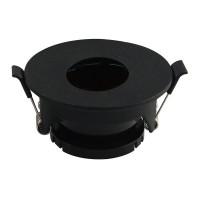 Įleidžiamas paviršinis šviestuvas , apvalus, GU10, juodas 80x42mm