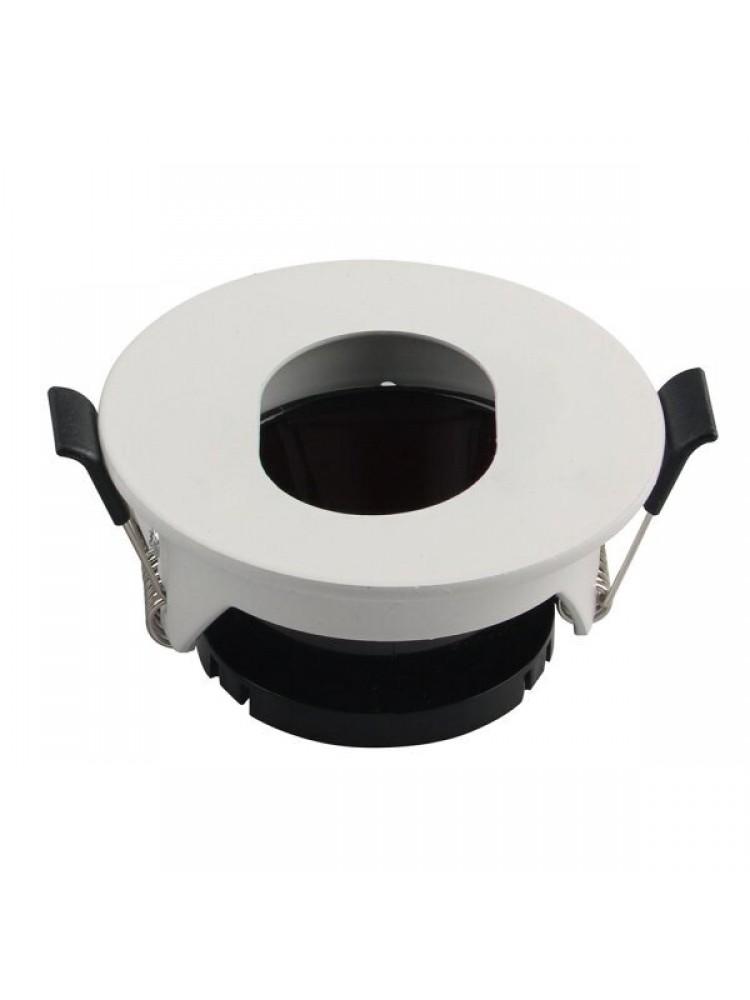 Įleidžiamas paviršinis šviestuvas , apvalus, GU10, balta  80x42mm
