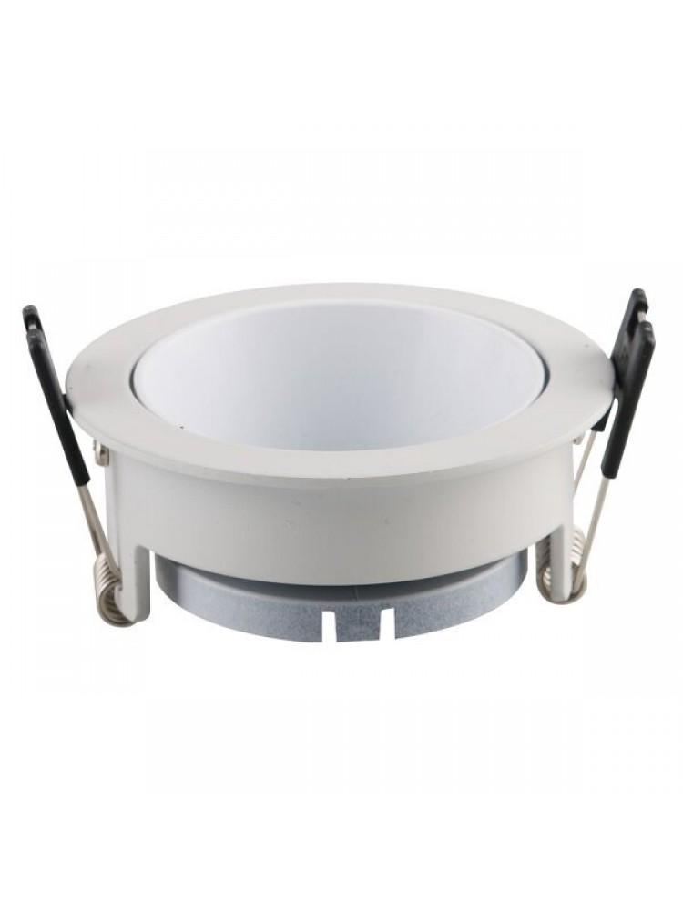 Įleidžiamas paviršinis šviestuvas , apvalus, GU10, baltas, 79x32 mm