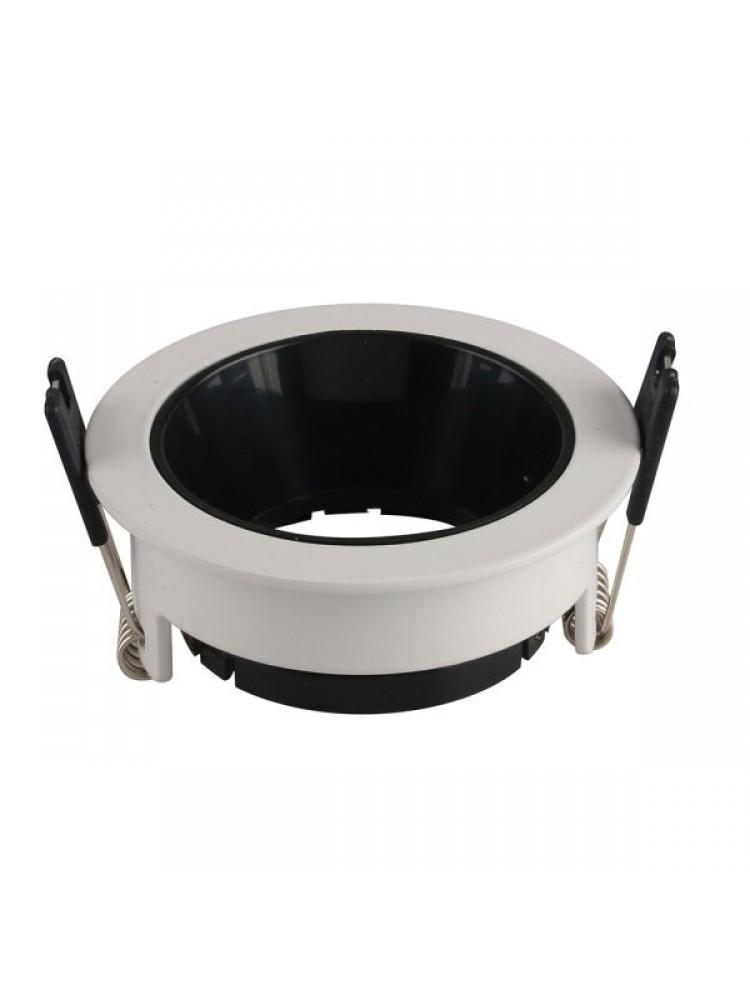 Įleidžiamas paviršinis šviestuvas , apvalus, GU10, baltas/ juodas, 79x32 mm
