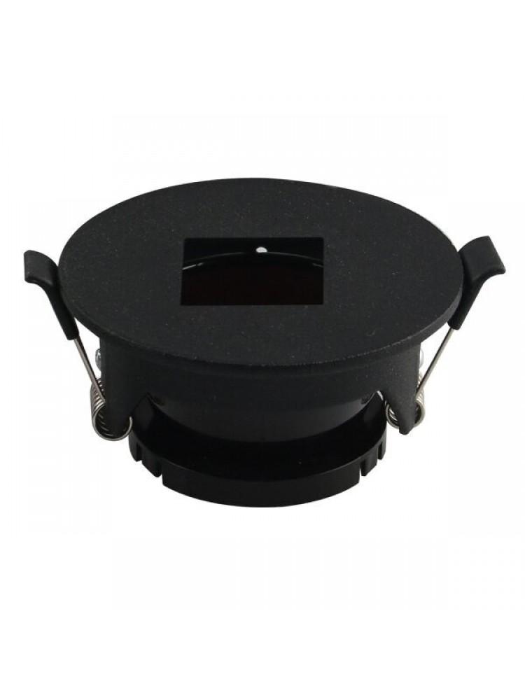 Įleidžiamas paviršinis šviestuvas , apvalus, GU10, juodas 83x40,7mm