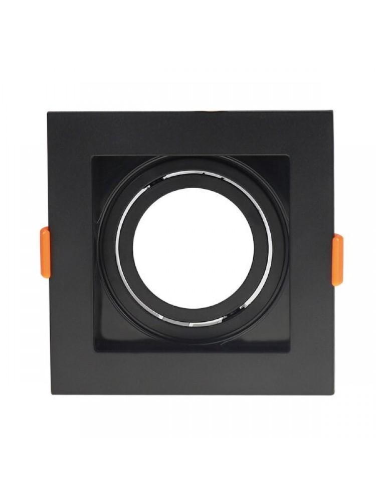 Įleidžiamas paviršinis šviestuvas , kvadratinis, GU10, juodas, 102x102x42 mm