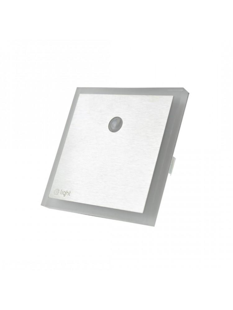 Laiptų pakopų LED šviestuvas su judesio davikliu  EVO 0,6W 12V