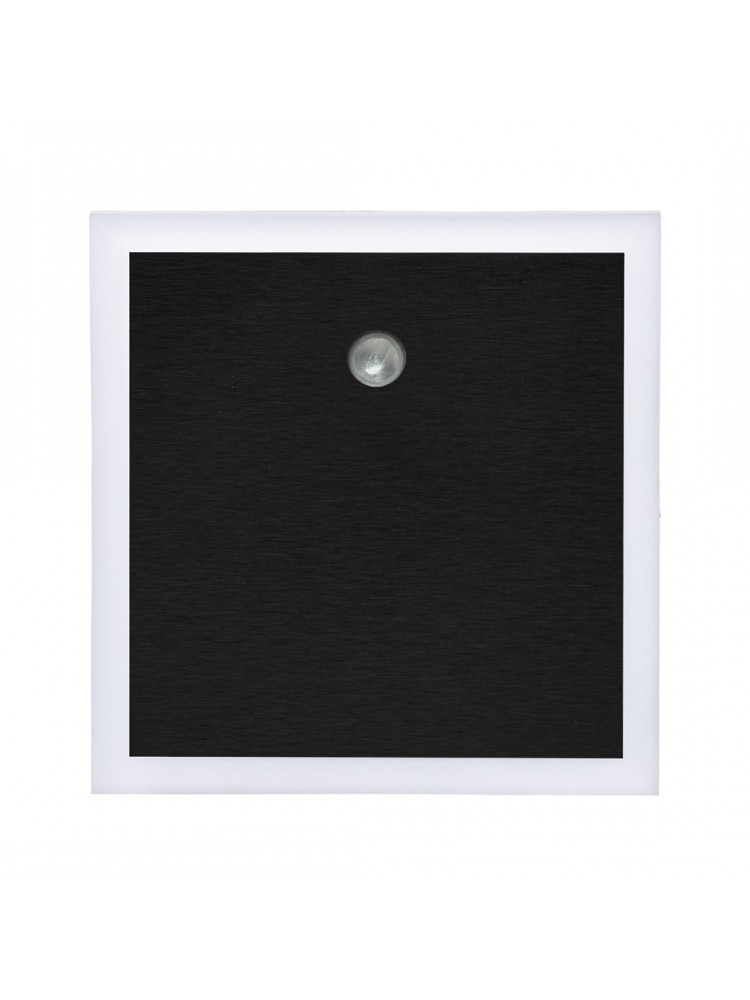 Laiptų pakopų LED šviestuvas su judesio davikliu  EVO JUODA 0,6W 12V