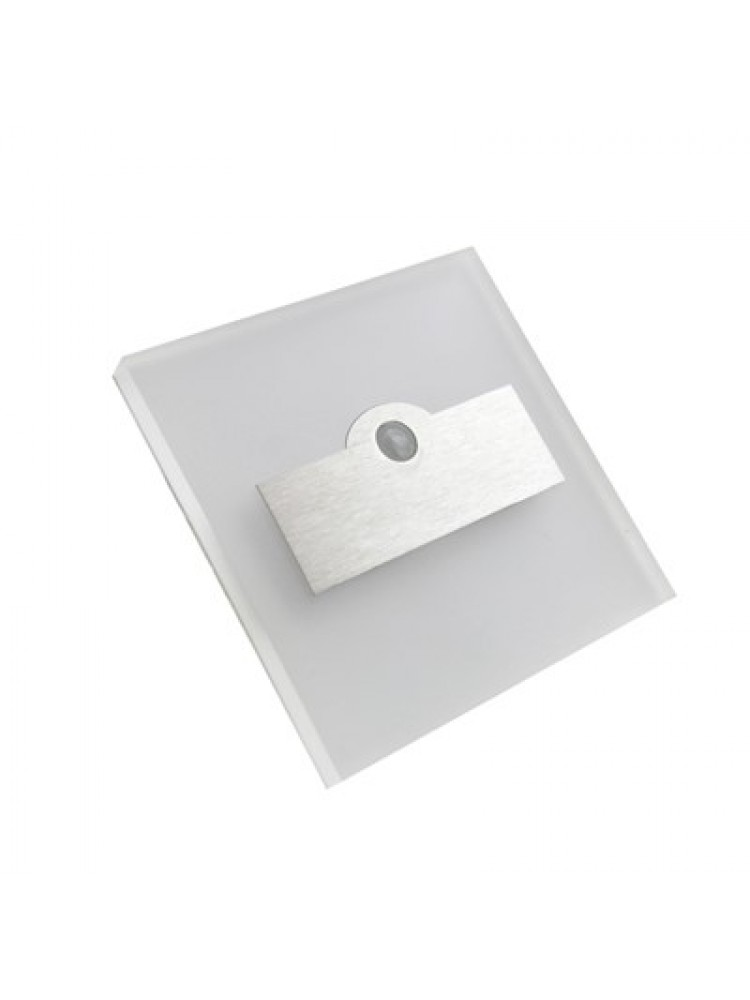 Laiptų pakopų LED šviestuvas su judesio davikliu  LUMI 0,6W 12V