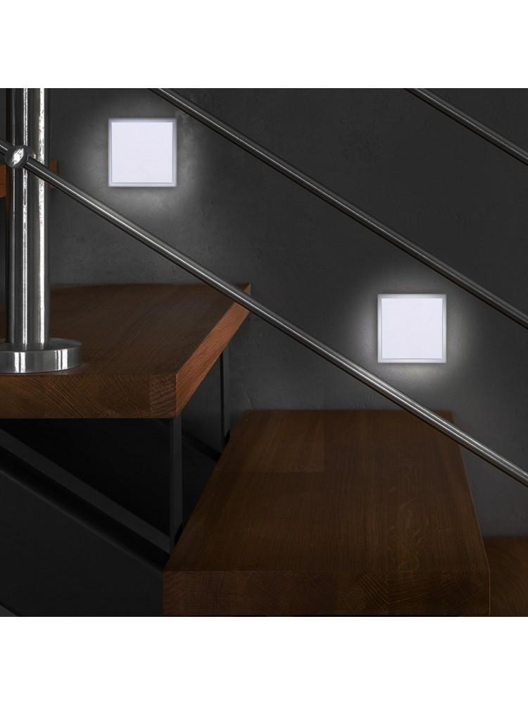 Laiptų pakopų LED šviestuvas  BARWA  BALTA 0,6W