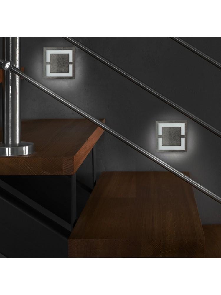 Laiptų pakopų LED šviestuvas  QUADRO 0,6W