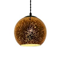 Pakabinamas šviestuvas 3D stiklas Copper Fireworks E27  D180xH160mm