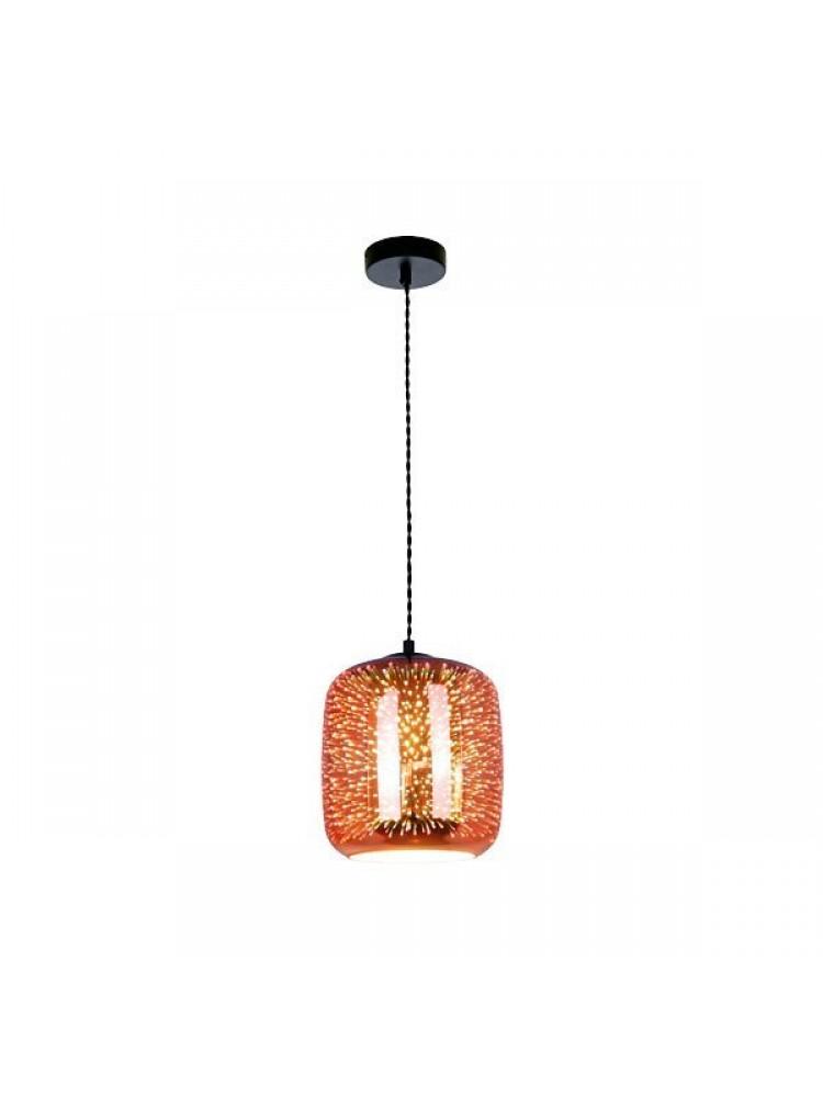 Pakabinamas šviestuvas 3D stiklas Copper Fireworks E27  D200xH213mm