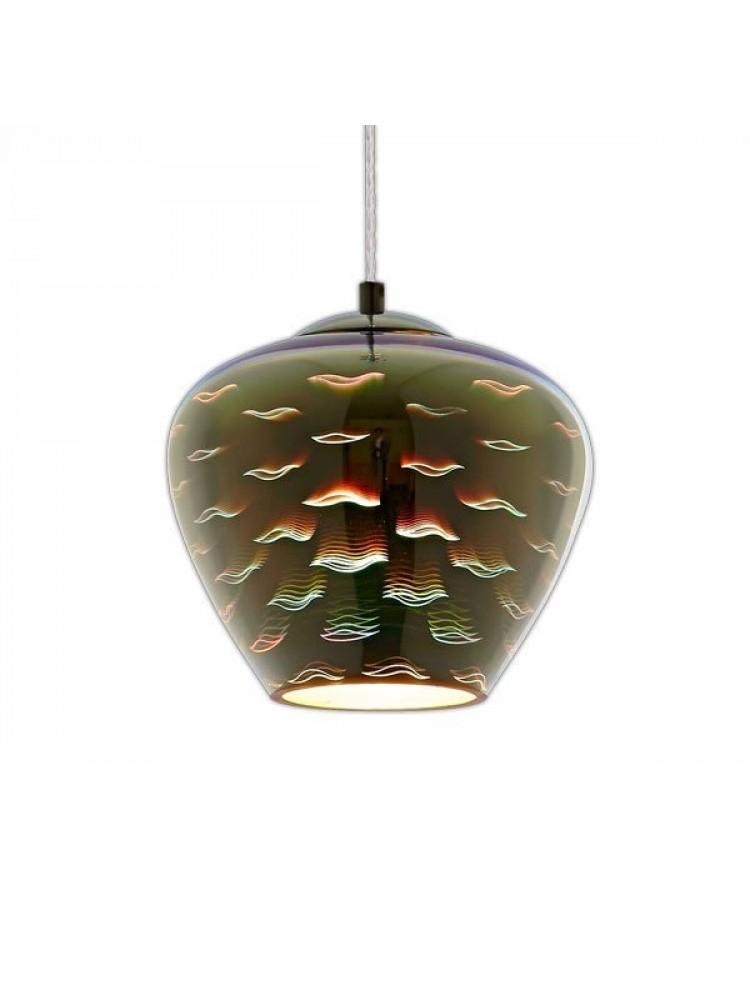Pakabinamas šviestuvas 3D stiklas CHROME  SEAGULL D200xH165mm
