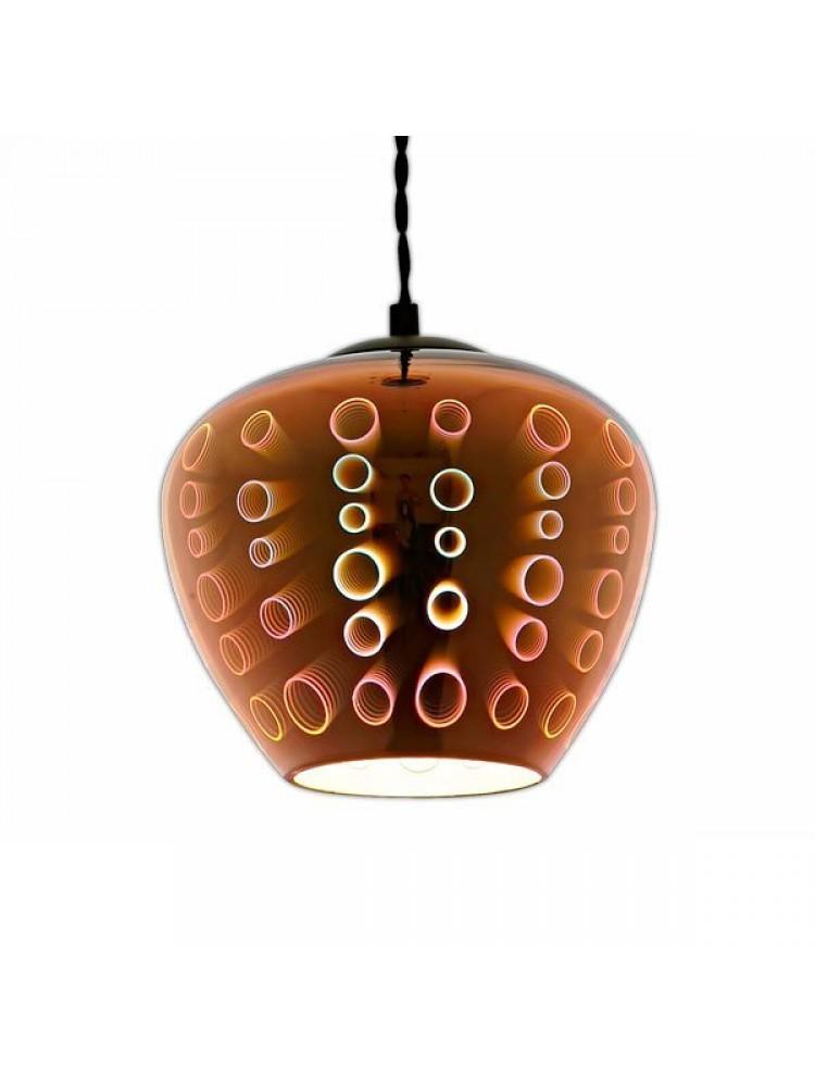 Pakabinamas šviestuvas 3D stiklas COPPER CIRCLES  D200xH165mm