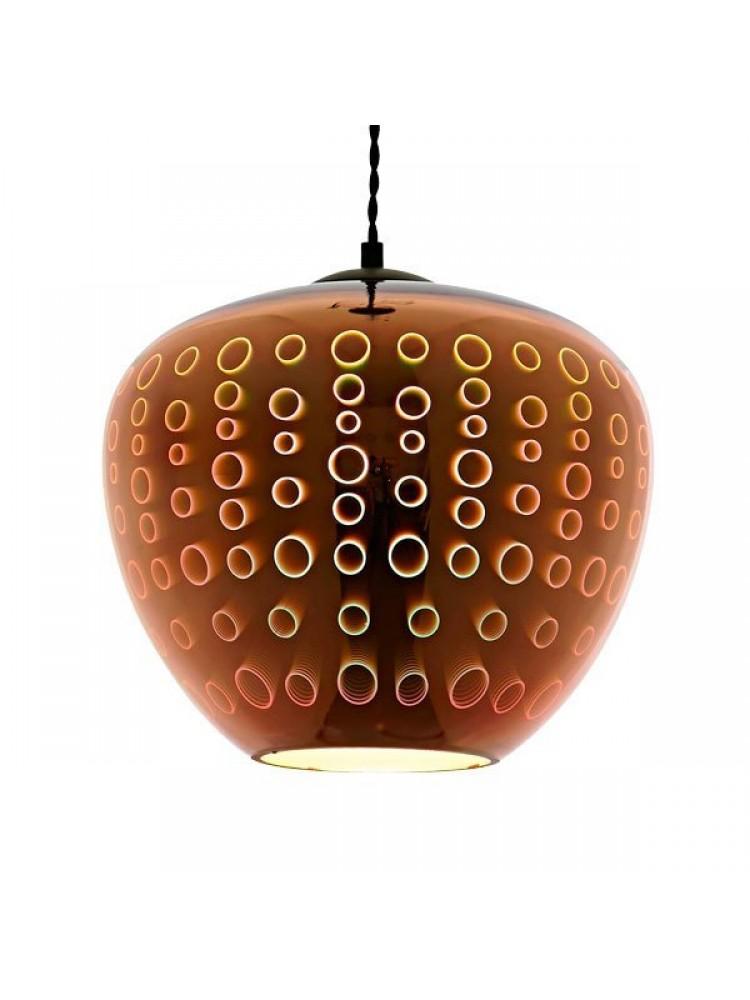 Pakabinamas šviestuvas 3D stiklas  COPPER CIRCLES D290xH250mm