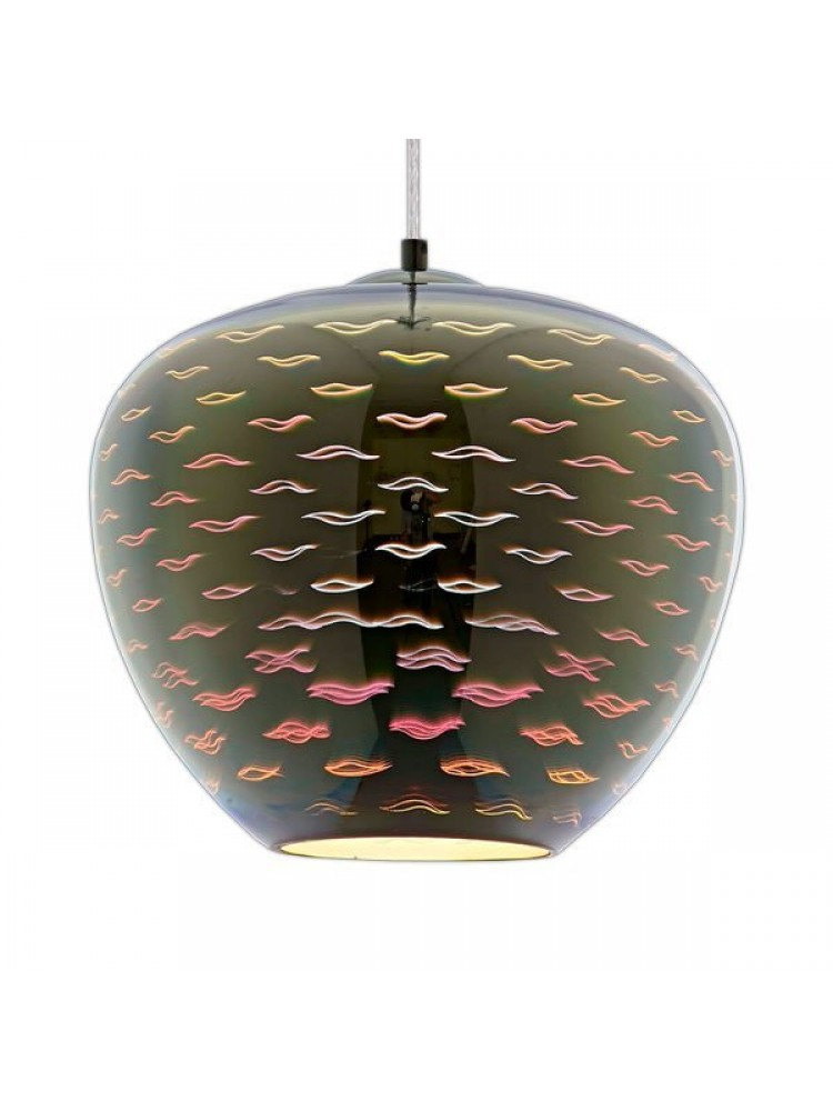 Pakabinamas šviestuvas 3D stiklas CHROME SEAGULL D290xH250mm