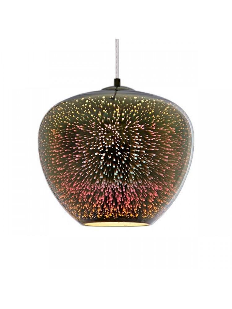 Pakabinamas šviestuvas 3D stiklas  CHROME FIREWORKS  D400xH345mm