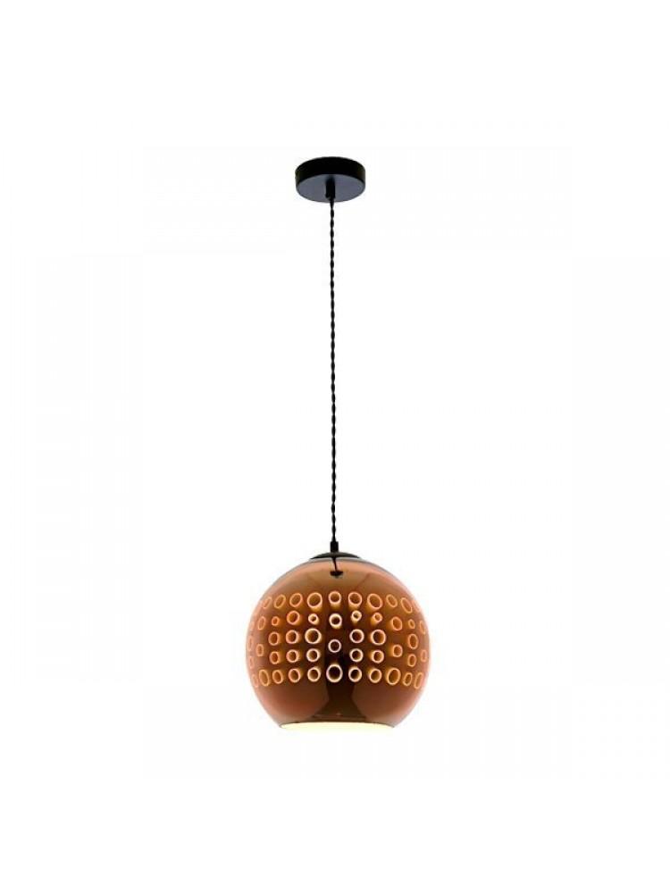 Pakabinamas šviestuvas 3D stiklas Copper Circles E27  D250xH220mm