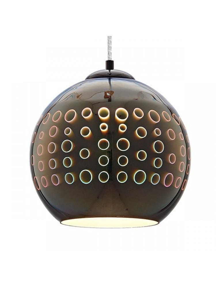 Pakabinamas šviestuvas 3D stiklas Chrome Circles E27  D250xH220mm