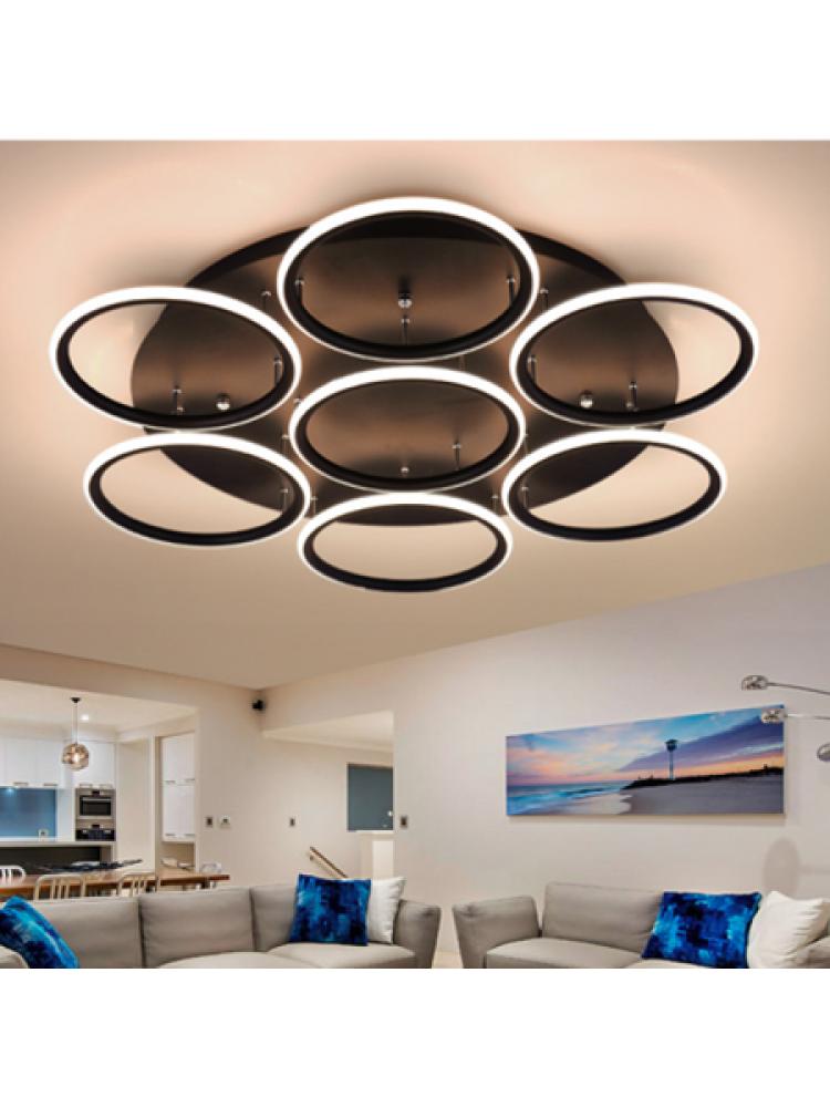 Pakabinamas šviestuvas  LED žiedai 7 , 4000K