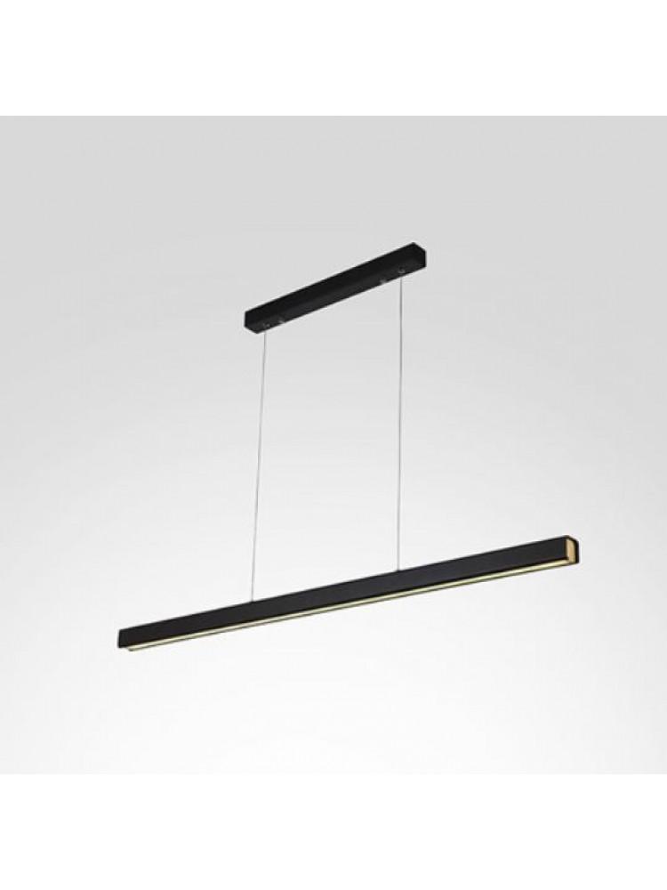 Pakabinamas šviestuvas LINEA 100cm , juodos spalvos