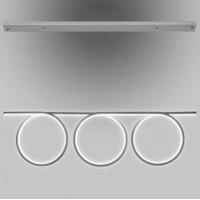 Pakabinamas šviestuvas  Led Ring No. 8 ,pilkos spalvos