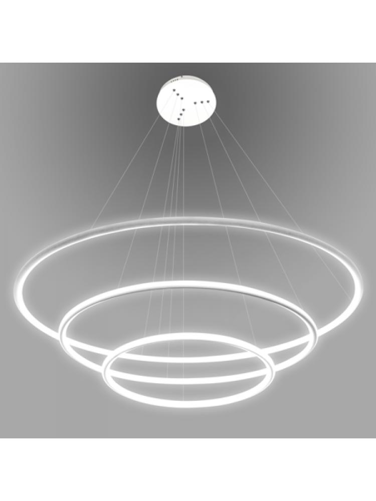 Pakabinamas šviestuvas  apšviestas žiedas Nr. 3 Φ80 cm 3000K baltos spalvos