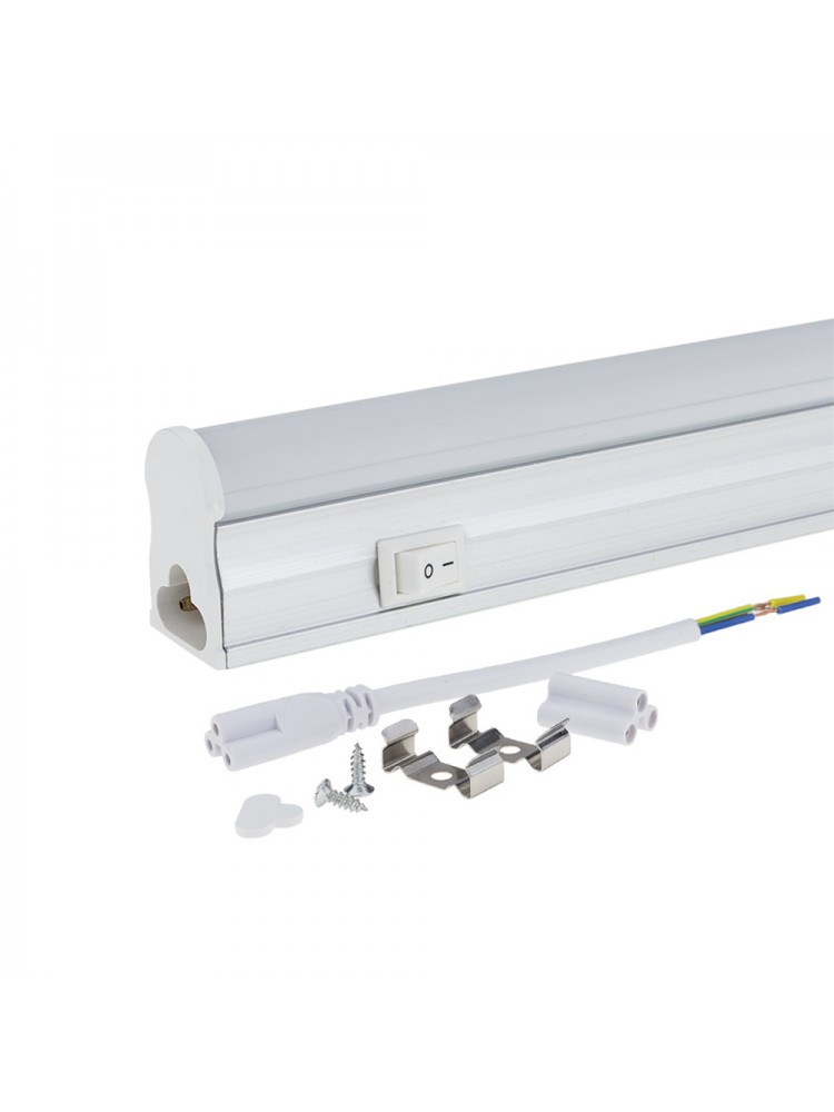 LED T5 šviestuvas 8W su jungikliu