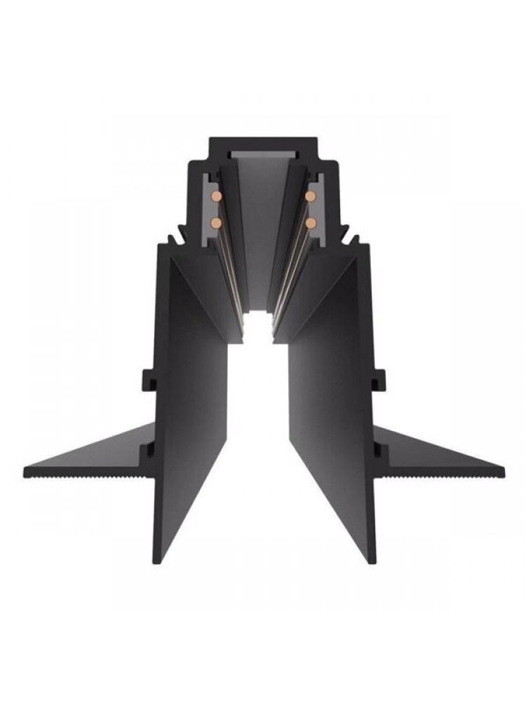 2m Įleidžiamas - priglaistomas magnetinės sistemos bėgelis, juodas