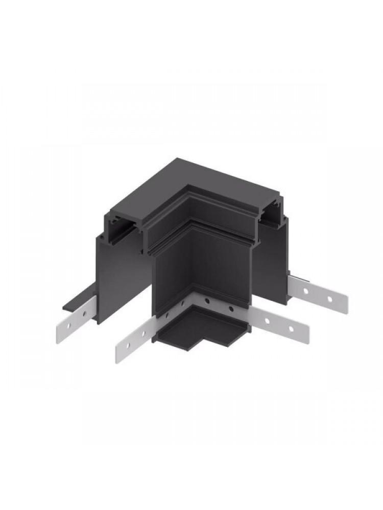 Įleidžiamas - priglaistomas magnetinės sistemos kampinis sujungimas , juodas