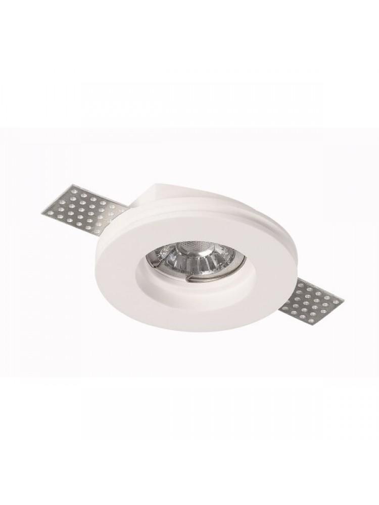 Įmontuojamas šviestuvas, priglaistomas, gipsinis, apvalus, GU10 ,100x27