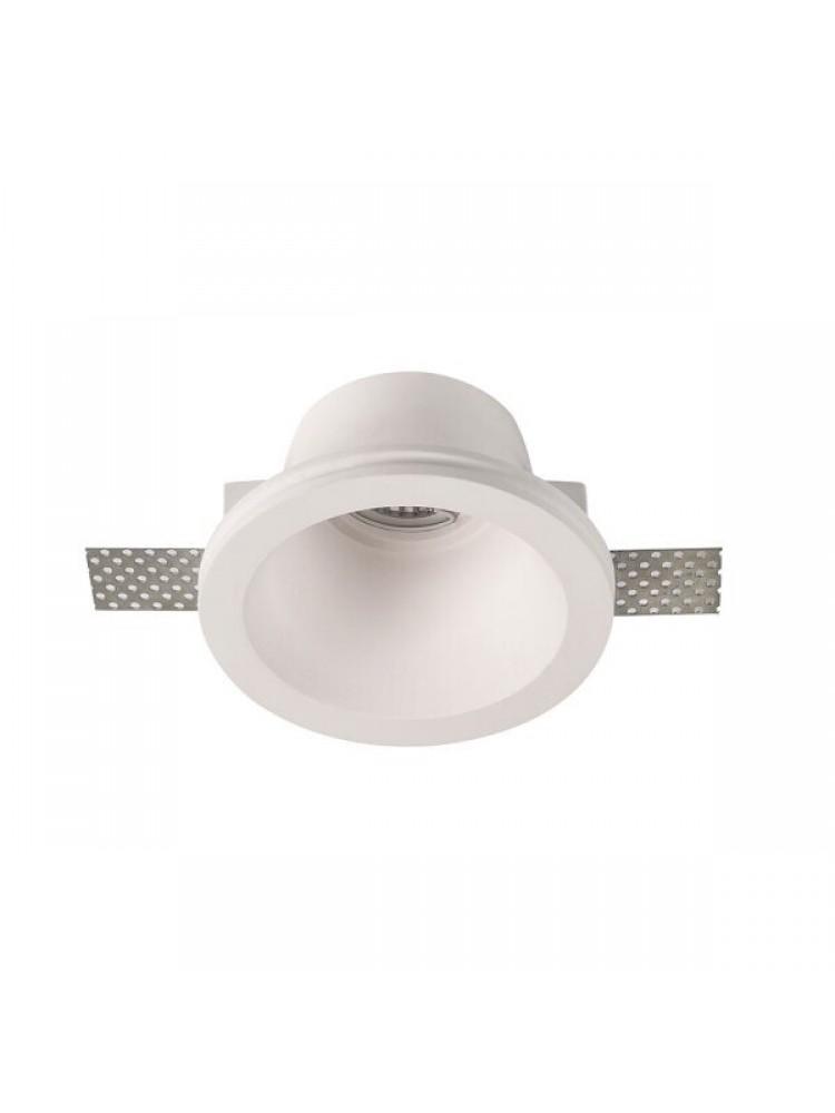 Įmontuojamas šviestuvas, priglaistomas, gipsinis, apvalus,  GU10 130x70mm