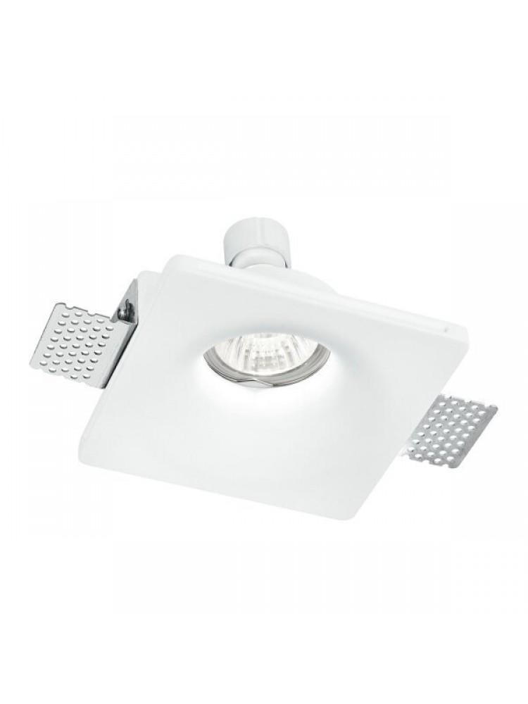 Įmontuojamas šviestuvas, priglaistomas, gipsinis, kvadratinis GU10