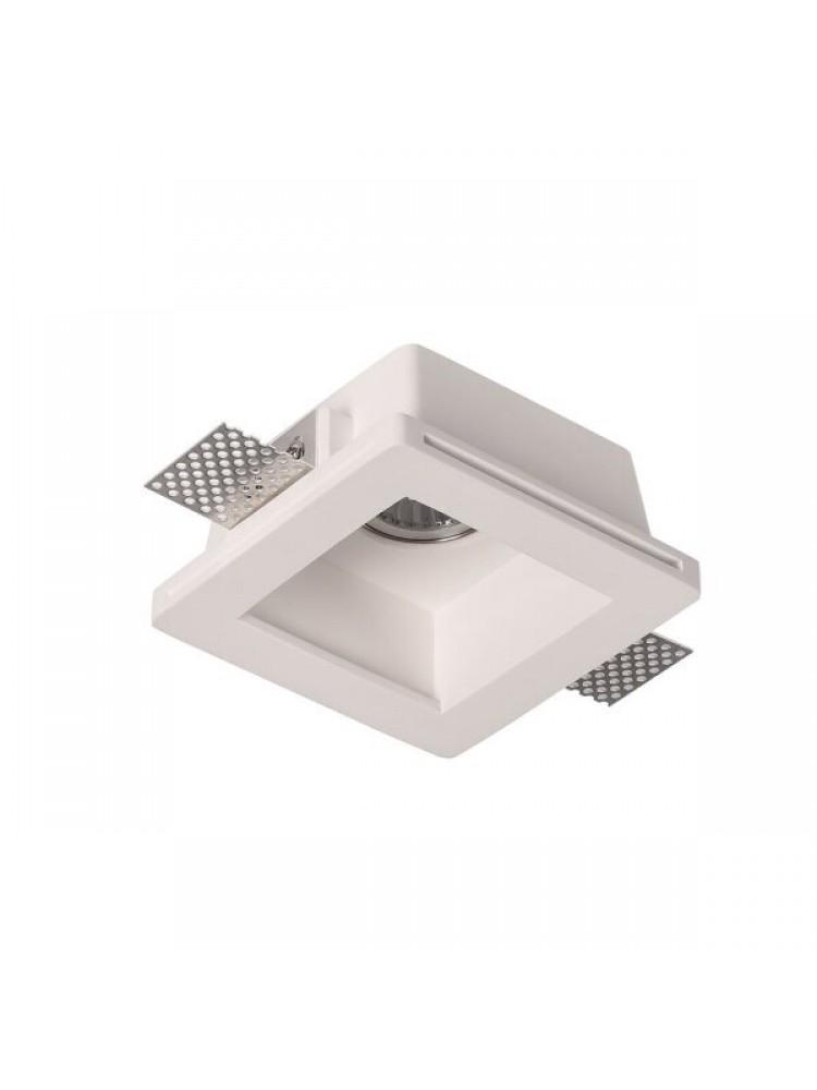 Įmontuojamas šviestuvas, priglaistomas, gipsinis, kvadratinis, GU10 ,120x120x60