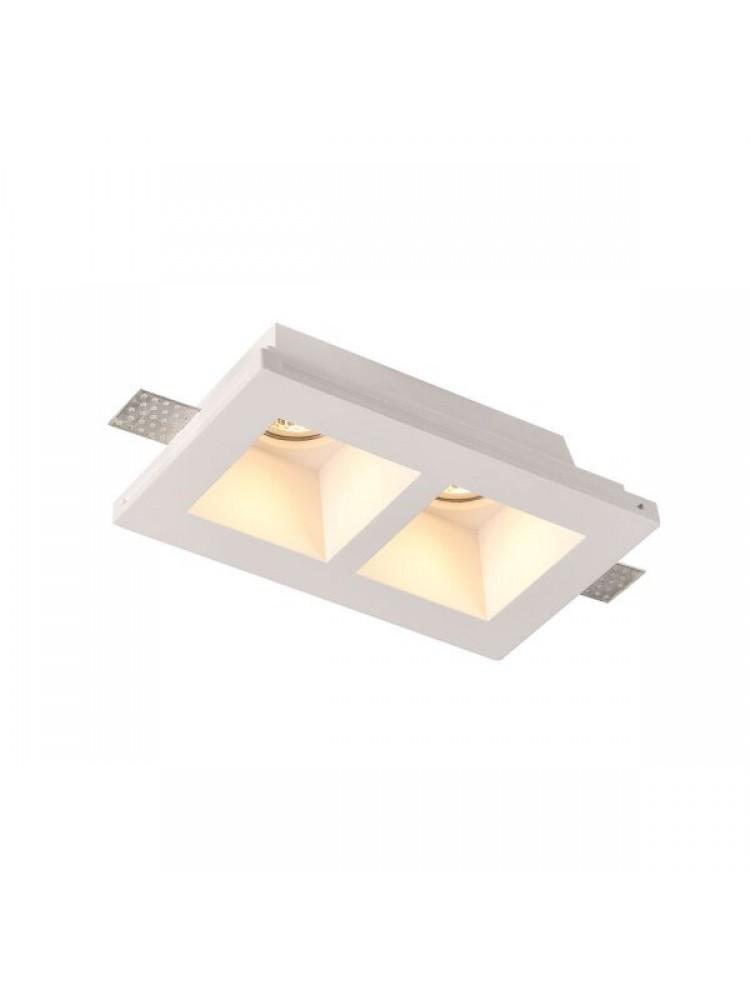 Įmontuojamas šviestuvas, priglaistomas, gipsinis, GU10 x 2 , 215x118x58