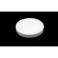 LED panelė 12W apvali, balta 3000K