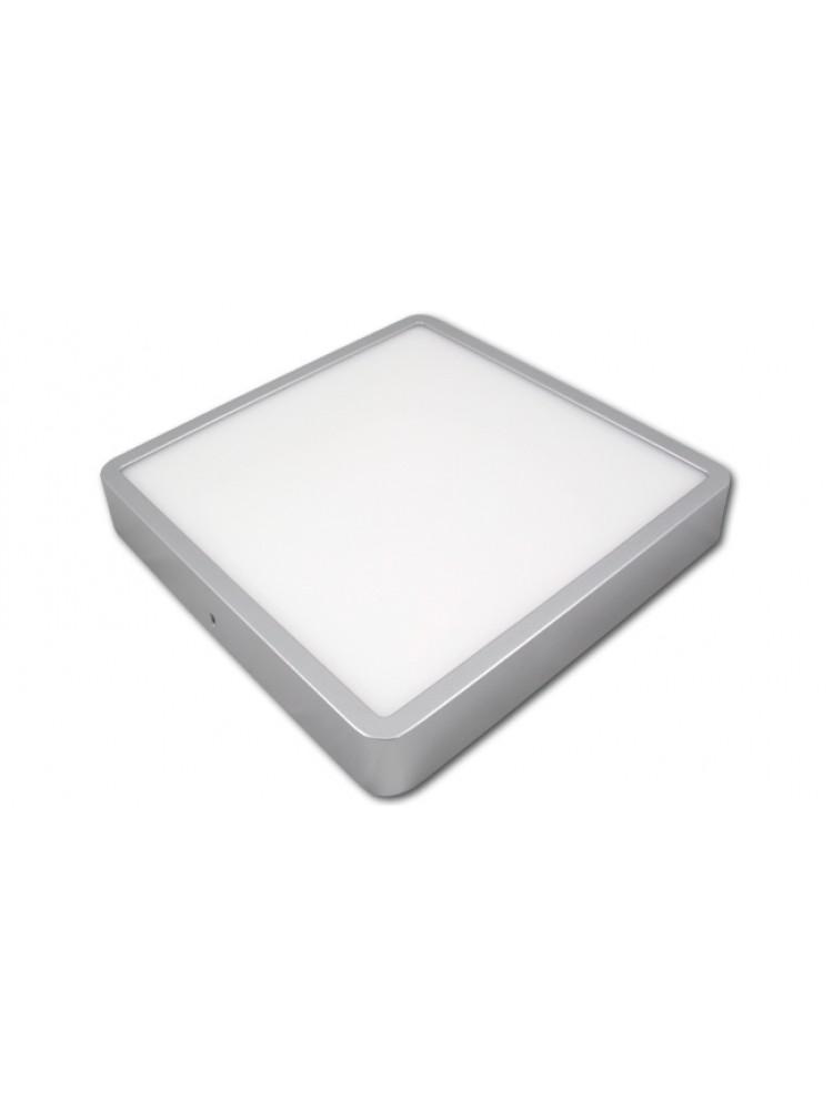 LED panelė 12W kvadratinė, sidabrinė