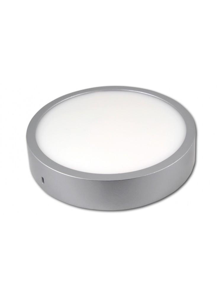 LED panelė 18W apvali, sidabrinė