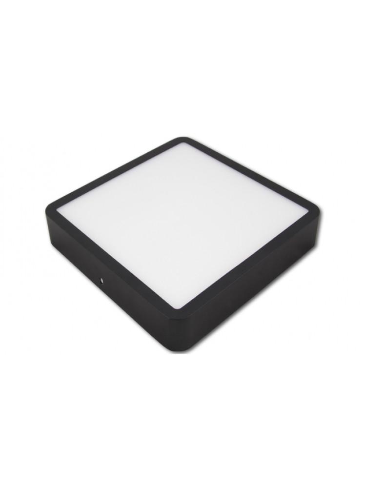 LED panelė 18W kvadratinė, juoda