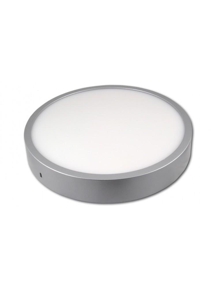 LED panelė 24W apvali, sidabrinė