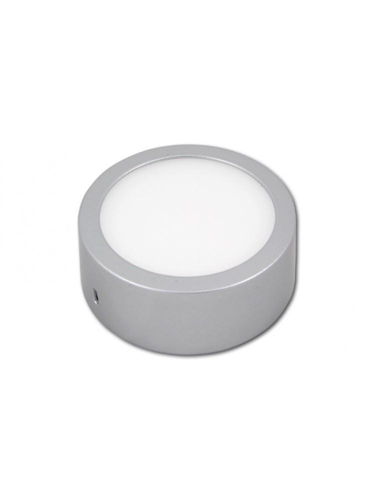 LED panelė 6W apvali, sidabrinė