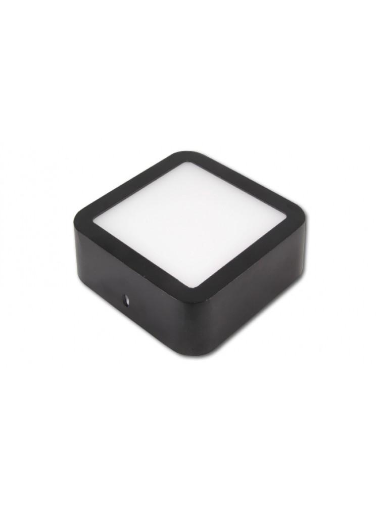 LED panelė 6W kvadratinė, juoda