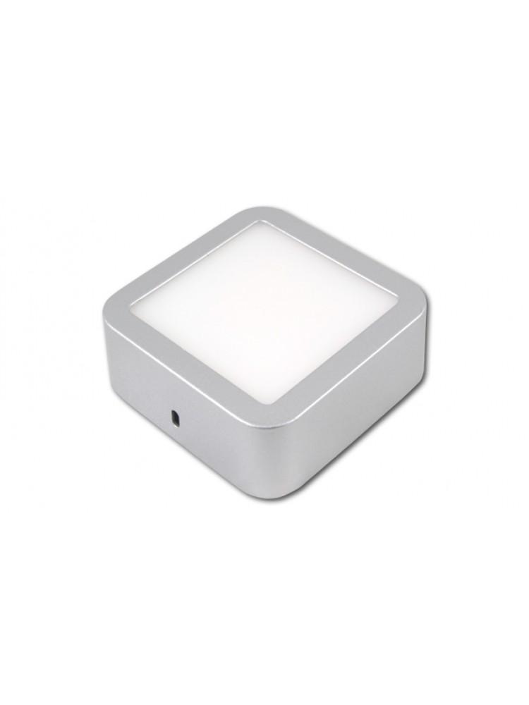 LED panelė 6W kvadratinė, sidabrinė